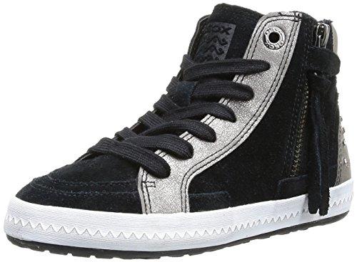 Geox JR WITTY - Zapatillas de cuero para niña Negro