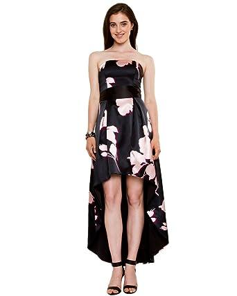 LE CHÂTEAU Women\'s Floral Satin High-Low Gown at Amazon Women\'s ...