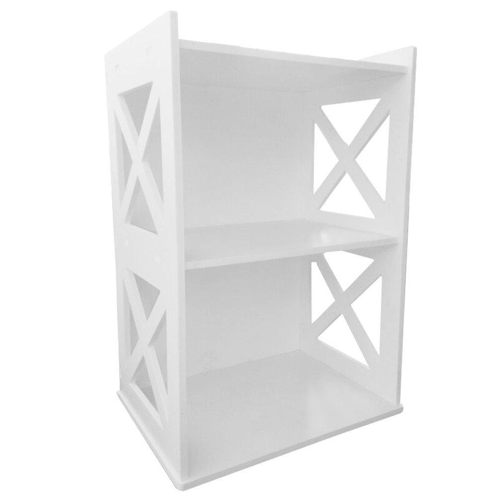 DIY White 2-Tiered Ladder Shelf Bookcase Display Unit Style Shelving  Storage: Amazon.co.uk: Office Products