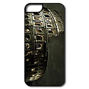 IPhone 5 5S Cases, Cool Colosseum Roman Architecture White/black Covers For IPhone 5/5S