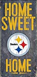 "Fan Creations - Pittsburgh Steelers Wood Sign - Home Sweet Home 6""x12"""