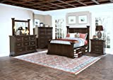 New Classic 00-007-300 Timber City 5-Piece Bedroom Set with Wood Panel Queen Storage Bed