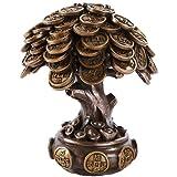 Pacific Giftware Feng Shui Bronze Golden Money Coin Prosperity Tree Home Decoration Gift (Bronze)