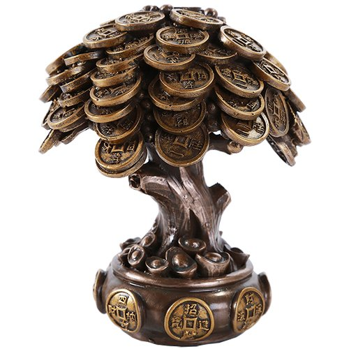 - Pacific Giftware Feng Shui Bronze Golden Money Coin Prosperity Tree Home Decoration Gift (Bronze)