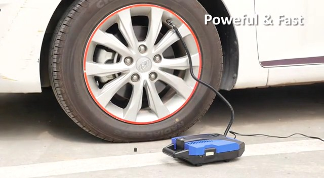 Bicycles and Other Inflatables DC 12V Digital Air Pump for Car Tires Akface Tire Inflator Portable Air Compressor Auto Shut Off Feature