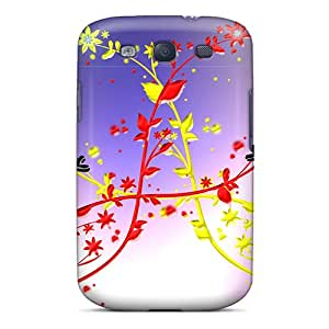 MQMshop Galaxy S3 Well-designed Hard Case Cover Cat Kittycat Flowers Protector
