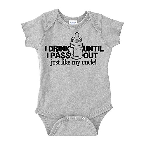 The Shirt Den I Drink Until I Pass Out Just Like My Uncle Baby One Piece 6 mo Athletic Heather