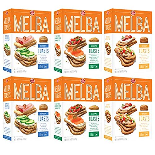 (Old London, Melba Toasts, (Pack of 6) Classic + Sesame + Wheat)