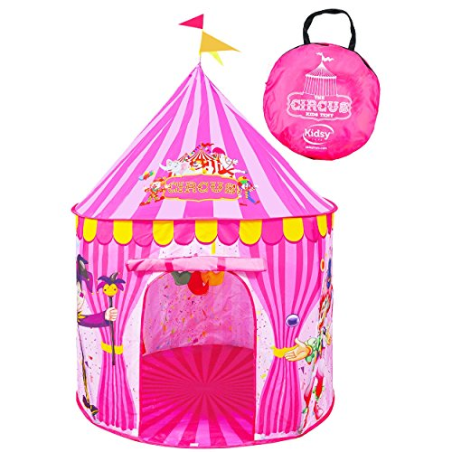 Play Tent for Kids: Vibrant Pink' Toy Circus Tent in Sturdy Carrying Bag Durable, Lightweight & Portable Kids' Tent for Indoor & Outdoor Use Easy Setup & Storage Great Gifting Idea