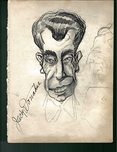 1930-40's Vincent Zito Caricature of Jack Donohue Signed by Donohue