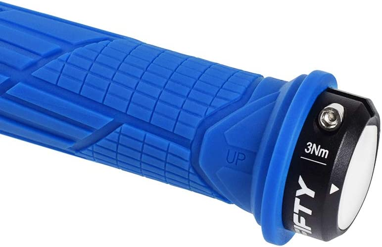 Fifty Fifty Single Lock On Mountain Bike Handlebar Grips Mtb Grips Made Of Non Slip Rubber Compound Bicycle Grips Blue Sport Freizeit