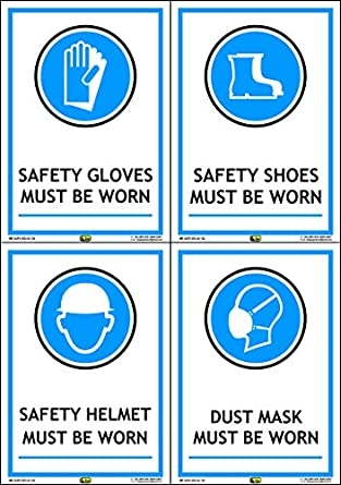 Mr Safe Ppe Safety Signs B Pvc Sticker A5 Pack Of 4 58 Inch X
