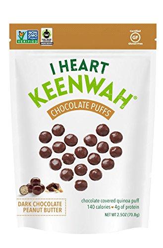 I Heart Keenwah Dark Chocolate Peanut Butter Quinoa Puffs, 2.5 Ounce (Pack of 6)