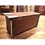 Crafters and Weavers Rustic Distressed Reclaimed Solid Wood Painted Trunk Coffee Table