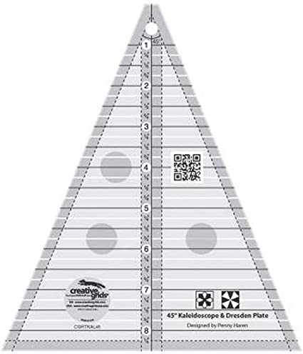 Creative Grids 22-1//2 Degree Triangle Sewing and Quilting Ruler