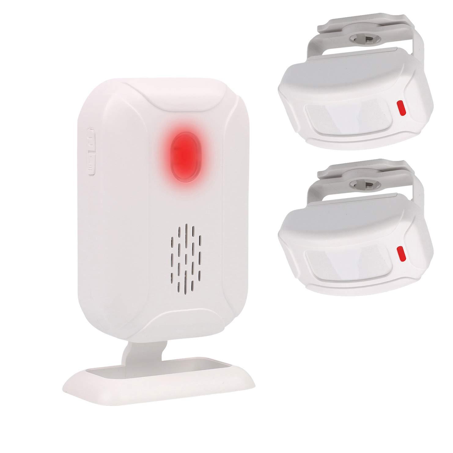 Mengshen Alarma del Sensor De Movimiento, Timbre Inalámbrico para Puerta/Entrada de La Puerta/Casa y Tienda/Buzón, Kit de Sistema de Alarma de ...