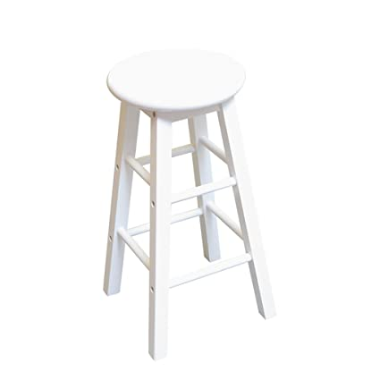 Groovy Amazon Com Rubber Wood Bar Stool Furniture Wooden Stool Pabps2019 Chair Design Images Pabps2019Com