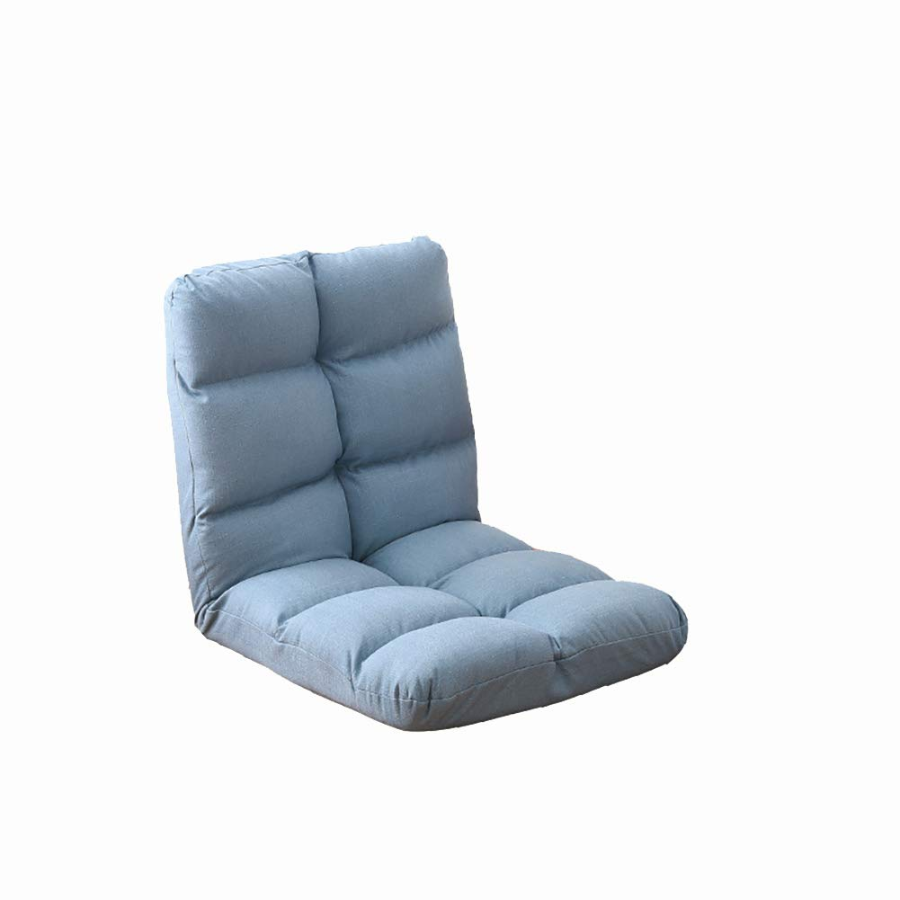 Single Sofa Bed Chair Amazon.com: Lazy Couch Lazy Couch Chair Single Sofa Bed Foldable Living  Room Floor Recliner Simple Balcony Small Sofa (Color : Lake Blue): Kitchen  u0026 Dining