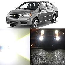 Alla Lighting 2pcs Super Bright 6000K White LED Front Fog Lights Bulbs replacement for 2006~2008 Chevrolet Aveo5