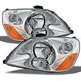 Honda Pilot Chrome Bezel OE Replacement Headlights Driver/Passenger Amber Head Lamps Pair New