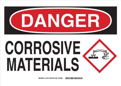 Corrosive Sign - Brady 131811 Aluminum Danger Sign, 7