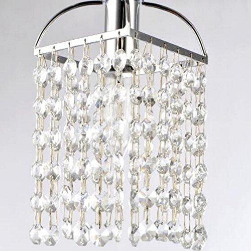 LightInTheBox Mini Alfa Strass Crystal Pendant One Light, Modern Home Ceiling Light Fixture Flush Mount, Pendant Light Chandeliers Lighting, Voltage=110-120V;Home Color=Transparance