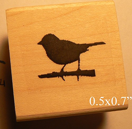 Dragonfly Mini Stamps - P65 Tiny Bird Silhouette rubber stamp