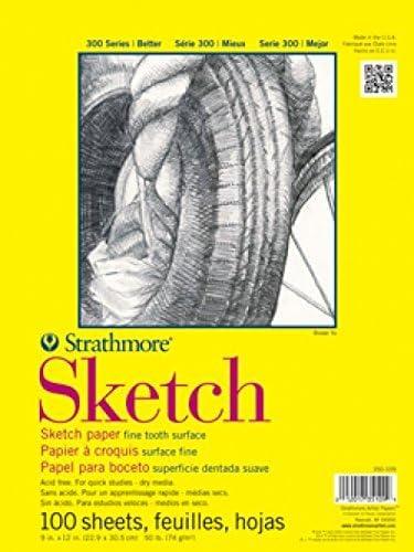 """Strathmore ((350-114 STR-350-114 100 Sheet Sketch Plus, 14 by 17"""", 14""""x17"""", [並行輸入品]"""