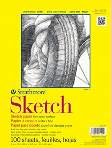 "Strathmore ((350-9 300 Series Sketch Pad, 9""x12"", 100 Sheets"