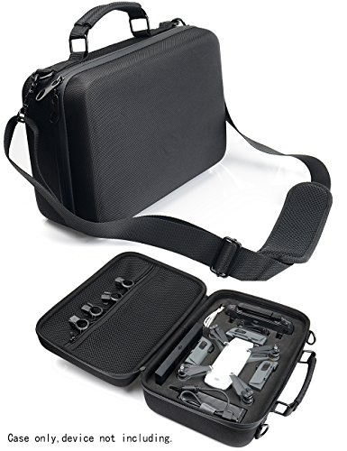 Professional Shoulder Case for DJI Spark, Portable Mini Drone Customized Sturdy Inlay for Spark, Batteries, Charger, Controller, and Propellers, Pocket for iPad or propeller guard, Strong- Lightweight