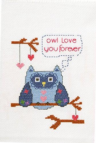 My 1St Stitch Owl Love You Mini Counted Cross Stitch Kit-5X7