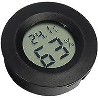 Roblue Thermomètre Numérique Ecran LCD pour Animal Rampant en Plastique pour Maison et Bureau