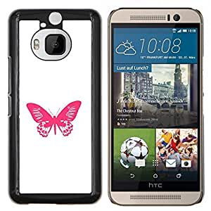 YiPhone /// Prima de resorte delgada de la cubierta del caso de Shell Armor - Minimalista Rosa Blanco Primavera - HTC One M9Plus M9+ M9 Plus