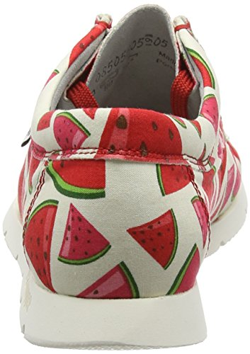 Sioux Grashopper d melone Mocasines Rot 141 Rojo Mujer rrqfcdwS