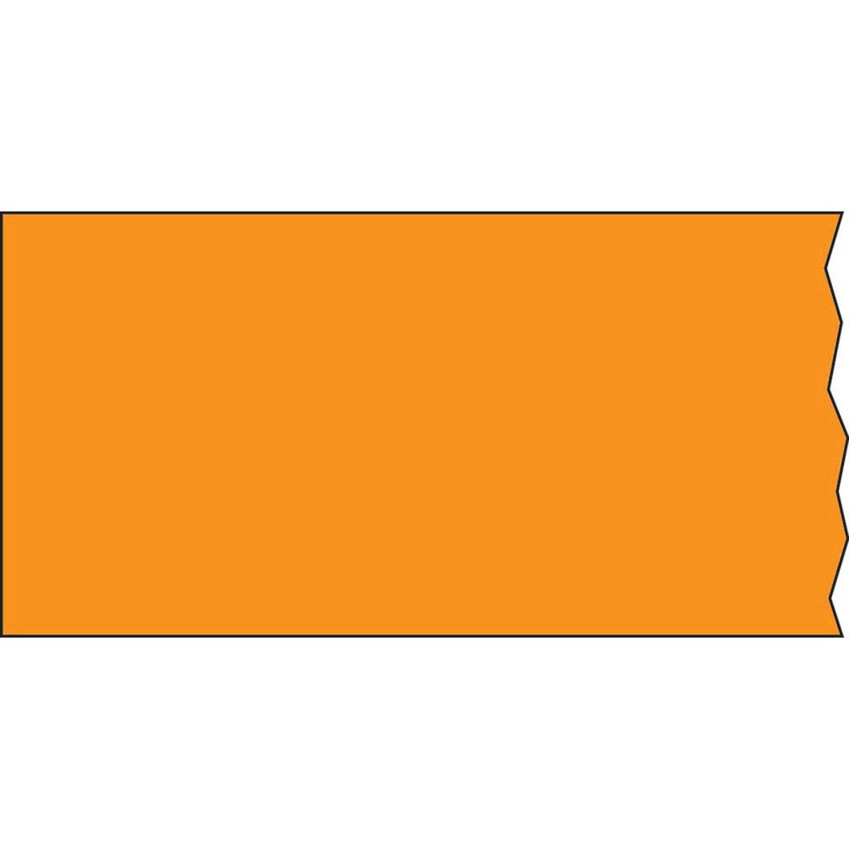 TIMETAPE T-502-6 Tape, Removable, 1'' Core, 2'' x 500'', Imprints Orange (Pack of 1)