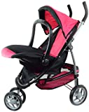 2-1 Doll Stroller with Car Seat for Ages 3+