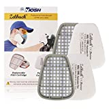 Zelbuck Respirator Mask Filter 2x P95 Gas Vapor Cartridge and 2x Particulate Filters for Respirator, Dust Mask, Gas Mask, Paint mask Against Dust, Organic Vapors, Pollen and Chemicals - 4 Piece