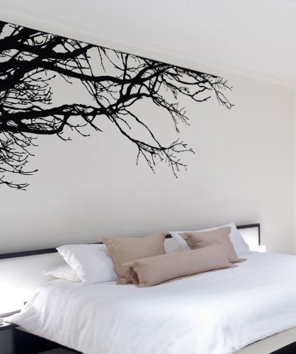 Large Tree Wall Decal Sticker - Semi-Gloss Black Tree Branches, 44in Tall X 100in Wide, Left To Right. Removable, No Paint Needed, Tree Branch Wall Stencil The Easy Way. by Stickerbrand (Image #8)