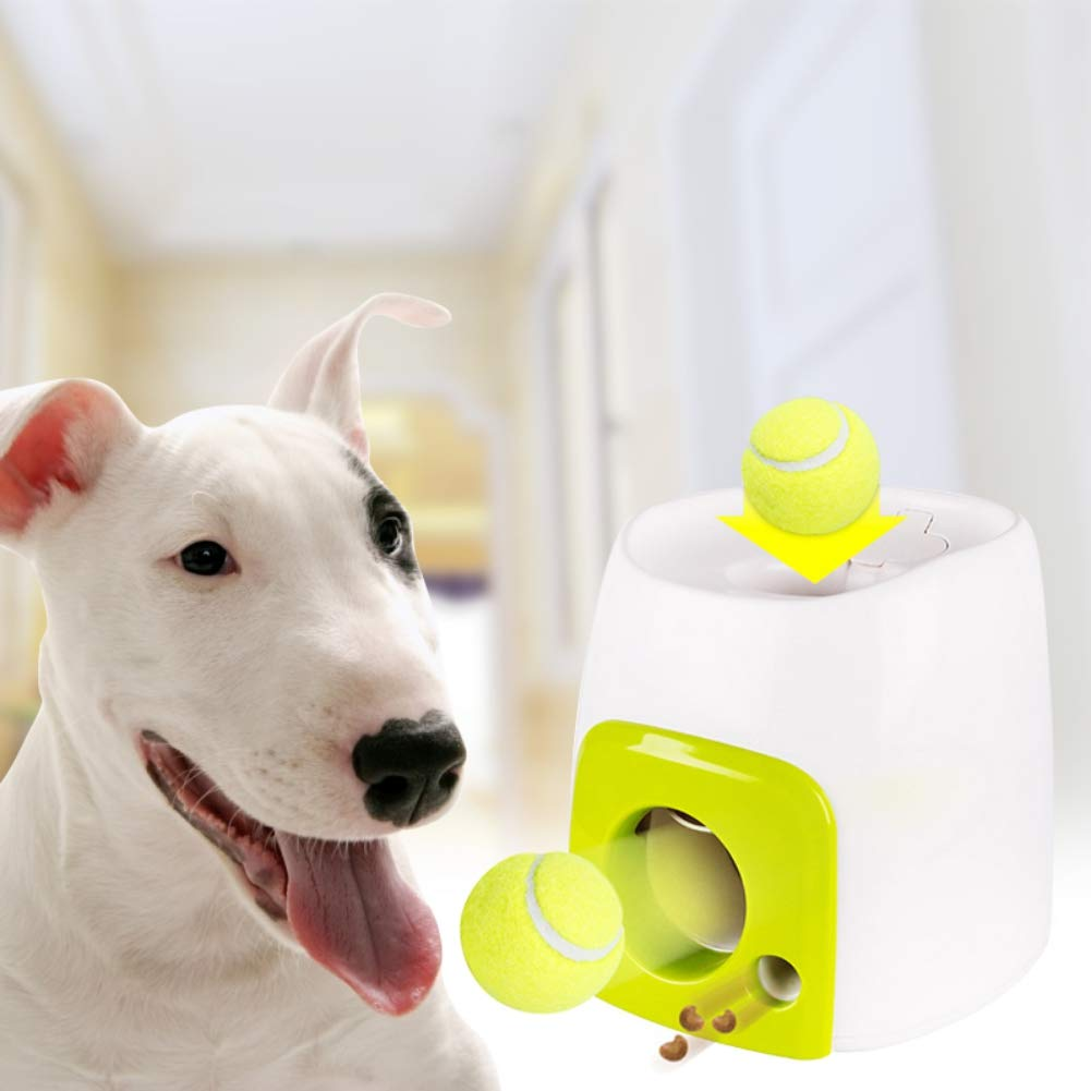 Escolourful Interactive Automatic Dog Ball Launcher Ball Thrower for Dogs Pet Tennis Ball Throwing Toy Includes 1 Tennis Ball