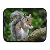 13 15 inch Animal Squirrel On The Rustic Wood Branch Laptop Sleeve Bag Water Resistant