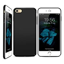 iPhone 6S Plus Case, HZ BIGTREE Slim Fit Shell Hard Plastic Full Protective Anti-Scratch Resistant Cover Case for iPhone 6 Plus/iPhone 6S Plus- Space Black