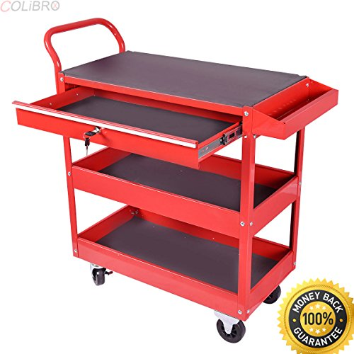 COLIBROX--Metal Rolling Tool Cart Storage Chest Box Wheels Storage Trays w/ Locking Drawer. tool box home depot. home depot truck tool boxes. rolling tool chest costco. best portable tool (Home Depot Drawers)