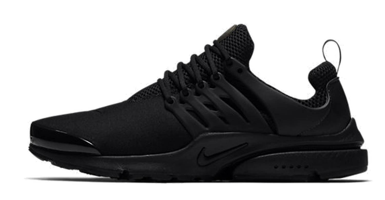 Nike Air Presto Herren Laufschuhe Sneaker  46 EU|Black-black-black (848132-009)