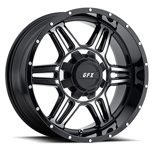 G-FX TR6 Gloss Black Machined Face Wheel with Painted Fin...