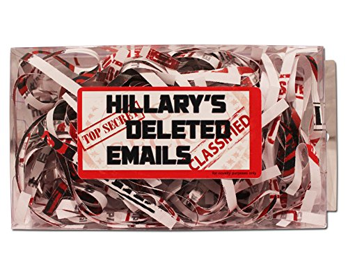 Hillary's Deleted Emails - Hillary's Emails Gag Gift - Funny Hillary Gifts - Presidential Election 2016 - Fake Emails Gag - Hillary Clinton Gag Gift by Gears Out