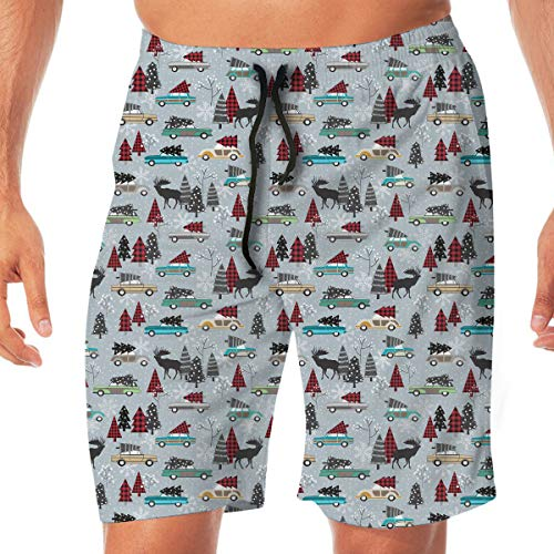 Novelty Top Old-Fashioned Car Christmas Tree Male Board Shorts Swimsuit Trunks Dress boy -