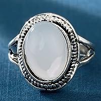Aisamaisara 925 Women Mens 925 Silver Huge Moonstone Gemstone Ring Anniversary Bridal Jewelry (10)