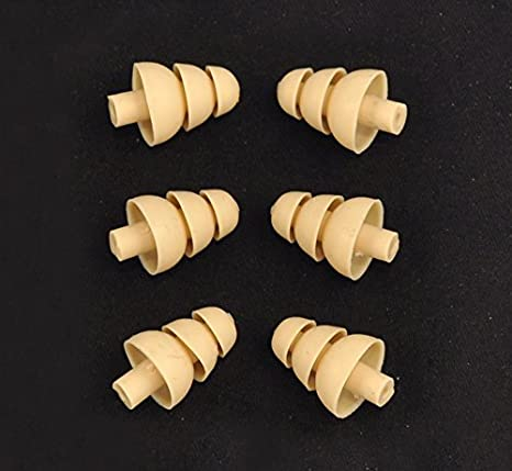 Triple Flange Replacement Ear tips sleeves fit SHURE SE110 SE112 SE115 SE210 SE215 SE310 SE315 SE420 SE425 SE530 SE535 SE846 E3c E3g E4c E4g E5c and Westone Noise Isolating In-Ear Headphones 6 PACK