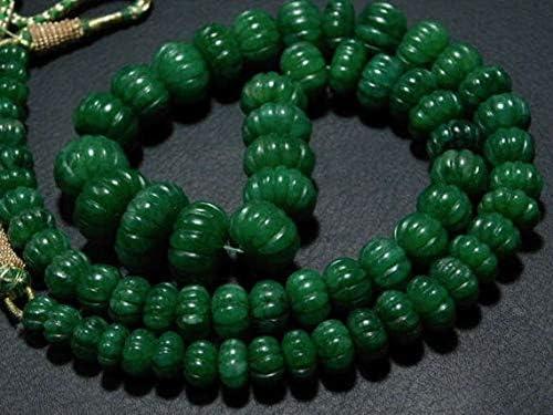 Emerald  Quartz Beads,Green Emerald Quartz Beads,Emerald Quartz Roundels Beads,AAA Grade Quality Briolettes Beads,8 Inches Strand