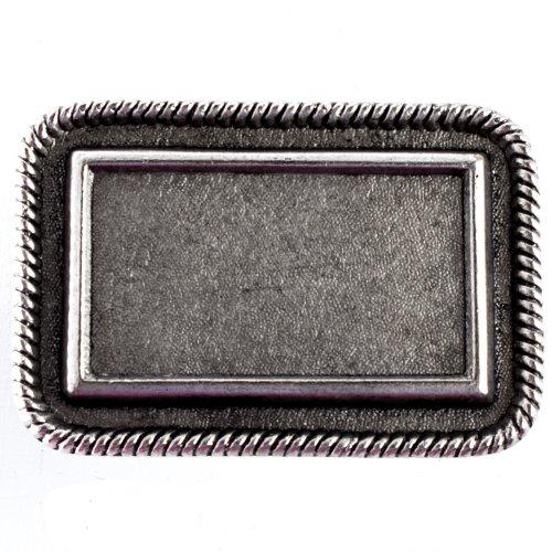 Antique Silver Finish Rectangle Belt Buckle Base -